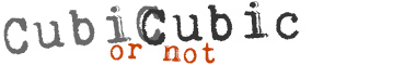 Cubic or not Cubic Logo